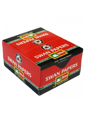 Wholesale Swan King Size Slim Rolling Papers - Red