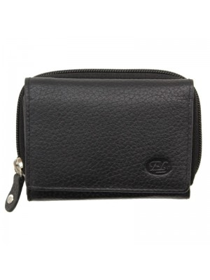 Ladies Purse Genuine Leather Black