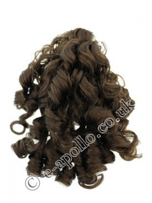 18-L37/ Synthetic Curly Hair Extensions With Clamp (Brown) YL006.4