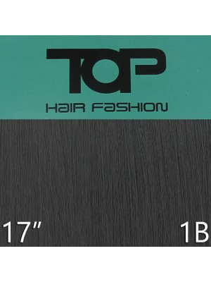 "'Top Hair Fashion' Synthetic Clip-in Hair Extensions 17"" - 1B (BKA)"