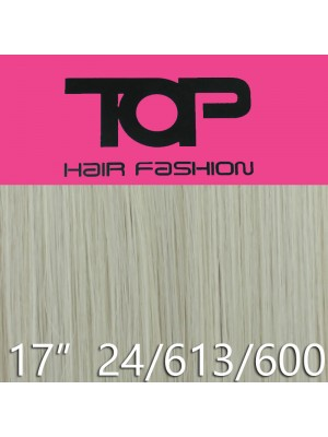 """'Top Hair Fashion' Synthetic Clip-in Hair Extensions 17"""" - 24/613/600 (BDA)"""