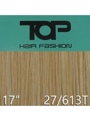 "'Top Hair Fashion' Synthetic Clip-in Hair Extensions 17"" - 27/ 613T (BR)"