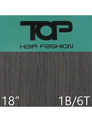 "'Top Hair Fashion' Synthetic Clip-in Hair Extensions 18"" - 1B/ 6T (BK)"