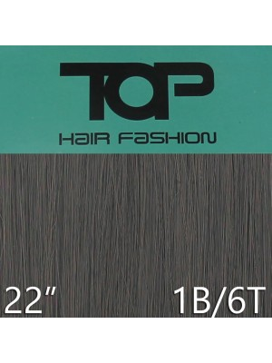 "'Top Hair Fashion' Synthetic Clip-in Hair Extensions 22"" - 1B/ 6T (BK)"