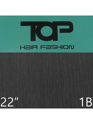 "'Top Hair Fashion' Synthetic Clip-in Hair Extensions 22"" - 1B (BKA)"