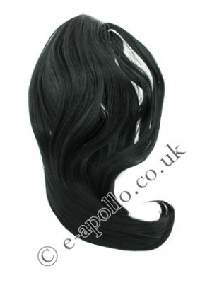 Synthetic Hair Extensions With Clamp - Black