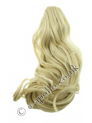 Synthetic Hair Extensions With Clamp - Blonde