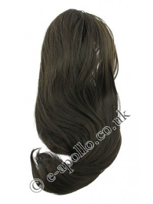 Synthetic Hair Extensions With Clamp - Brown