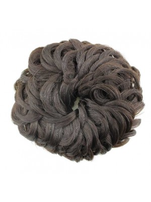 Wholesale Synthetic Hair Scrunchies-Brown