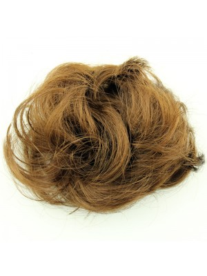 Synthetic Hair Scrunchies - Brown