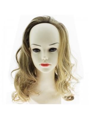 Synthetic Long Curly Hair Half Wig - Mary