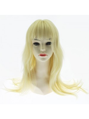Synthetic Long Straight Hair With Fringe Full Wig - Brigette