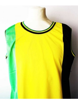 Wholesale Rasta Design Mesh Top Vest-(Assorted Sizes)