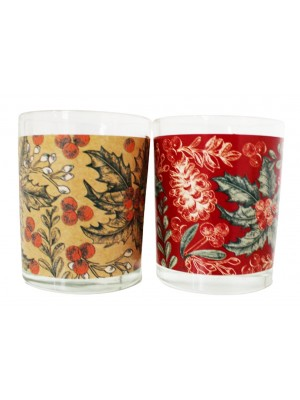 Wholesale Christmas Patterned Tea Light Holder - Assorted
