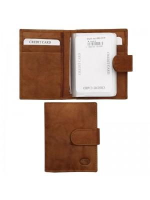 Wholesale Men's Florentino Leather Card Wallet - Tan