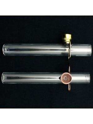Tar Catching Dry Smoking Glass Pipe 15 cm