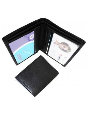Wholesale Real Leather Men's Wallet - Black (10cm x 10cm)