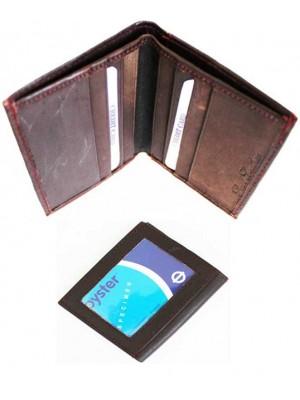 Wholesale Real Leather Men's Wallet - Brown (10cm x 10cm)
