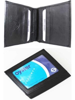 Wholesale RFID Real Leather Men's Wallet - Black (10cm x 10cm)