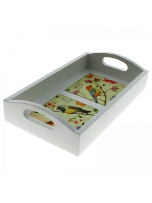 Tea Tray - Bird Design