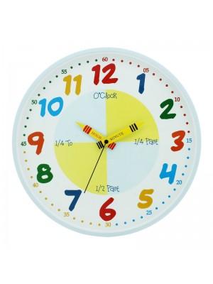 Teach The Time - Blue Wall Clock (30cm)