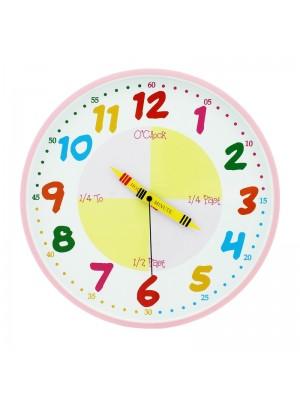 Teach The Time - Pink Wall Clock (30cm)