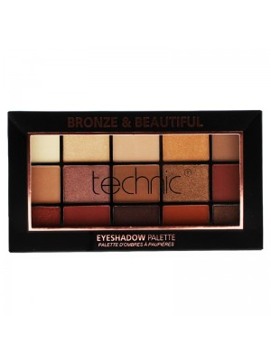 Wholesale Technic 15 Colours Eyeshadow Palette - Bronze & Beautiful