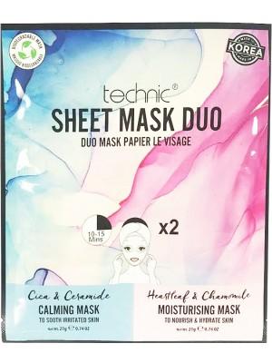 Wholesale Technic Calming & Moisturising Sheet Mask Duo - 24pcs