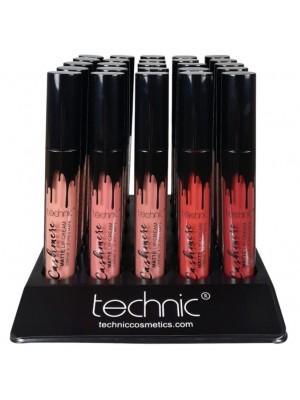 Wholesale Technic Cashmere Matte Lip Cream Lipstick - Assorted