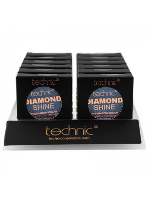 Wholesale Technic Diamond Shine Eyeshadow Cream - Sapphire