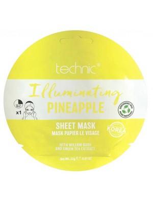 Wholesale Technic Illuminating Pineapple Sheet Mask Green Tea Extract