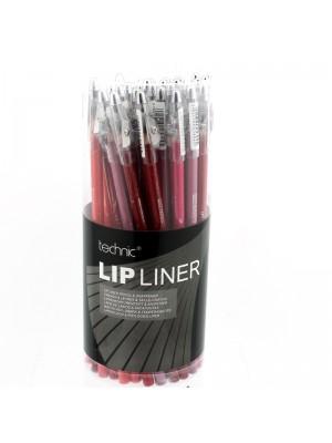 Technic Lip Liner Pencils & Sharpener - Assorted Colours