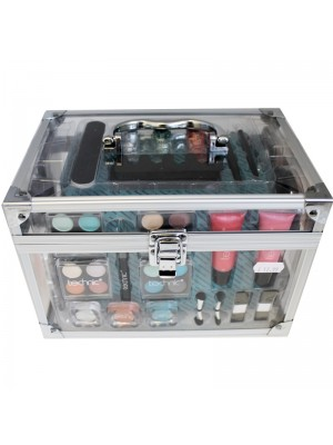 Technic Essential Cosmetics- Large Clear Carry Case