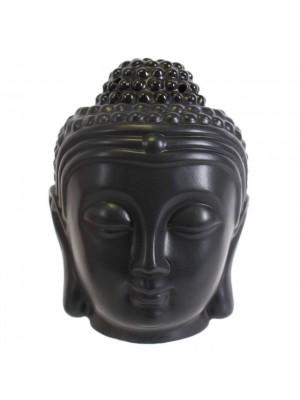 Thai Buddha Head Oil Burner - Black
