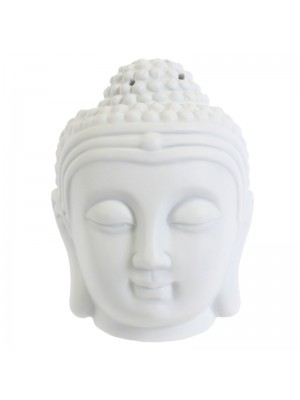 Thai Buddha Head Oil Burner - White