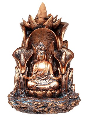 Thai Buddha Lotus Backflow Incense Burner - 13.5cm