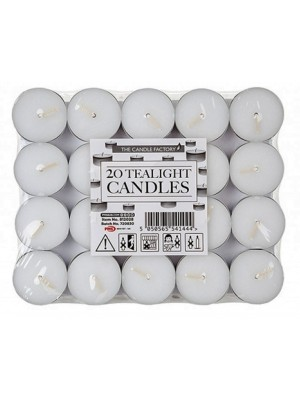 Wholesale The Candle Factory Unscented 20 Tealight Candles