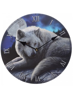 The Guardian of the North Lisa Parker MDF Picture Clock