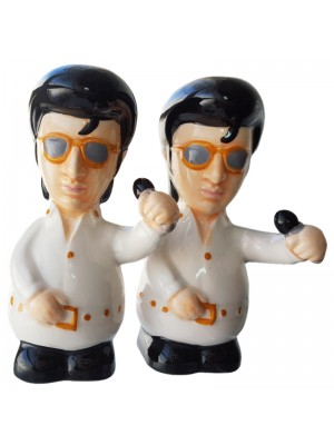 The King Ceramic Salt & Pepper Cruet Set