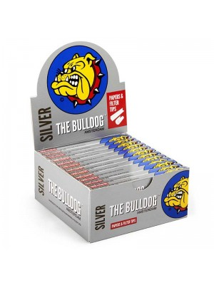 Wholesale The Bulldog King Size Slim Papers & Filter Tips - Silver