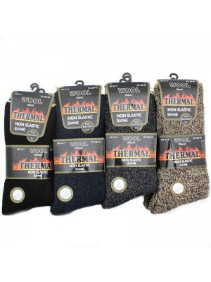 Mens Thermal Boot Socks - Dark Colours 6-11