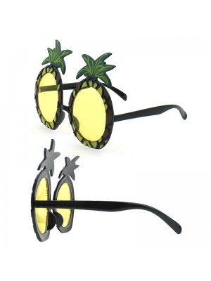 Tinted Glasses With A Tropical Theme Design