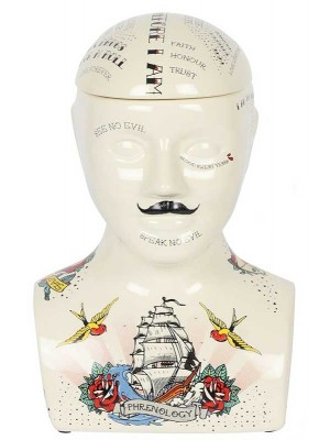 Wholesale Phrenology Head Storage Jar-30cm