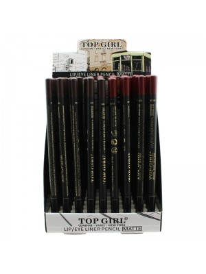 Top Girl Lip and Eye Liner Matte Pencil - Assorted Colours
