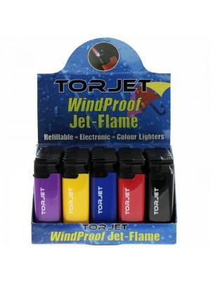 Torjet Windproof Jet-Flame Lighters- Assorted Colours