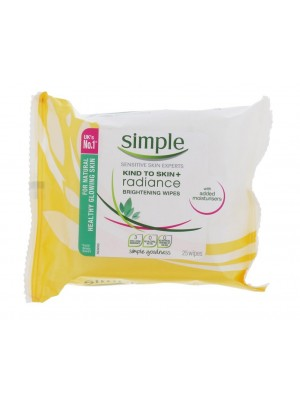 Wholesale Simple Radiance Brightening Wipes - Sensitive Skin