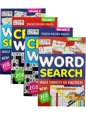 Wholesale Travel A5 Crossword/WordSearch Puzzle Book - Assorted
