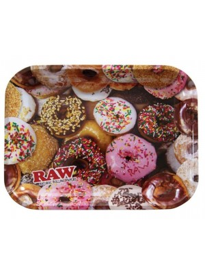 """RAW Large Rolling Metal Tray """"Donuts"""" - 34 x 27.5cm"""