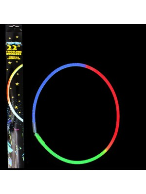 Tri-Colour Necklace Collar Glow Sticks- 22''