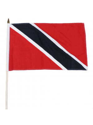 "Wholesale Trinidad and Tobago Hand Flag - 12"" x 18"""